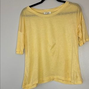 ☀️3/20 C'isa yellow tee dolman sleeves